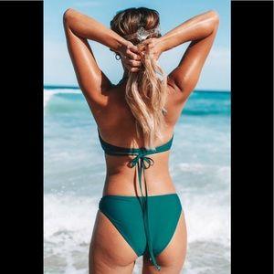 Cupshe Swim - Cupshe Teal Ruffled Bikini